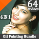 64 HDR Realistic Oil Paint Photo Effect Bundle V.3 - GraphicRiver Item for Sale