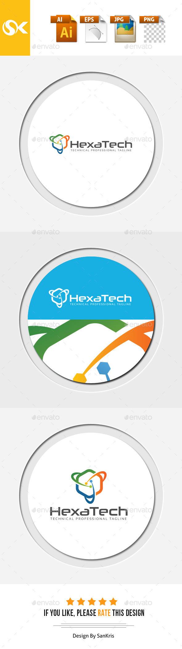 Hexa Technology - Symbols Logo Templates
