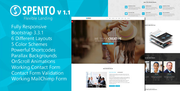 Spento – Flexible and Multi-Purpose Landing Page