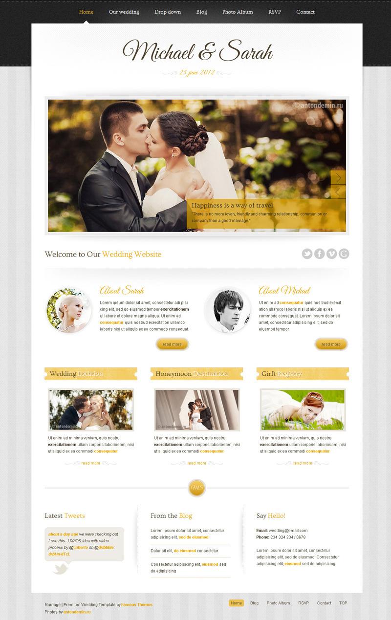 Marriage - Responsive Wedding Template