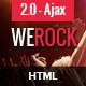 WeRock - Ajax Music Radio Streaming & Event HTML Template Nulled