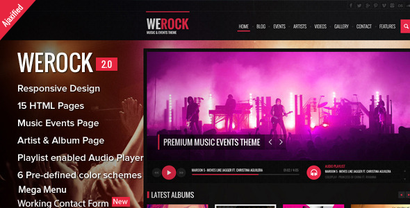 WeRock – Ajax Music Radio Streaming & Event HTML Template