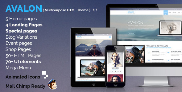 Avalon – Commerce Multipurpose HTML Theme