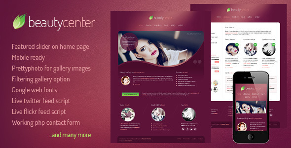 Beauty Center – HTML/CSS Template
