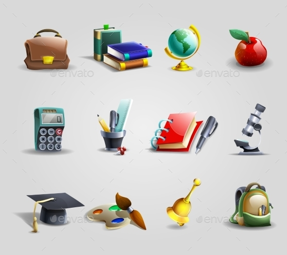 Education Icons Set - Miscellaneous Conceptual