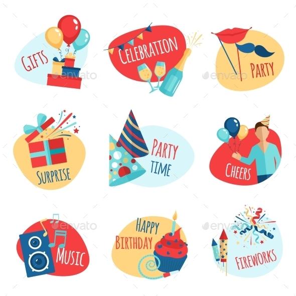 Party Emblems Set - Miscellaneous Vectors