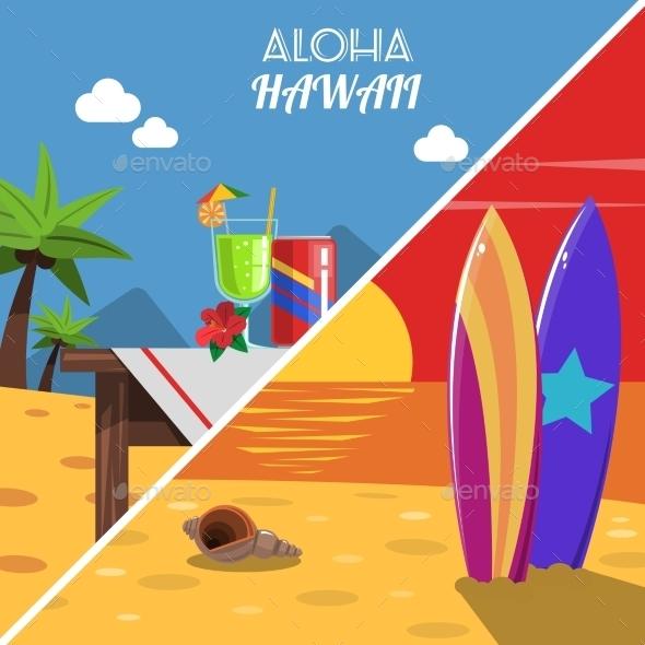 Beach Banner Set - Sports/Activity Conceptual