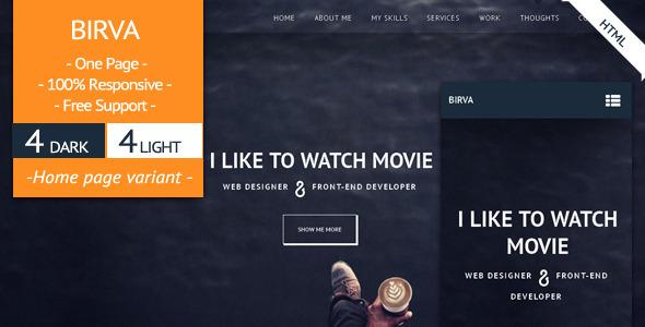 BIRVA – Responsive  Portfolio Template