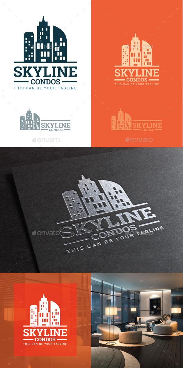 Condo development vector logo - Buildings Logo Templates