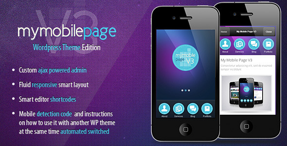 Free Download My Mobile Page V3 Wordpress Theme Nulled Latest Version