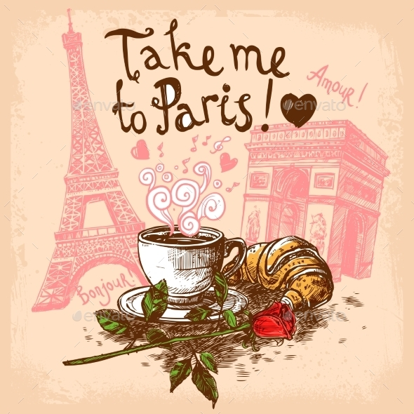 Take Me to Paris Concept - Travel Conceptual