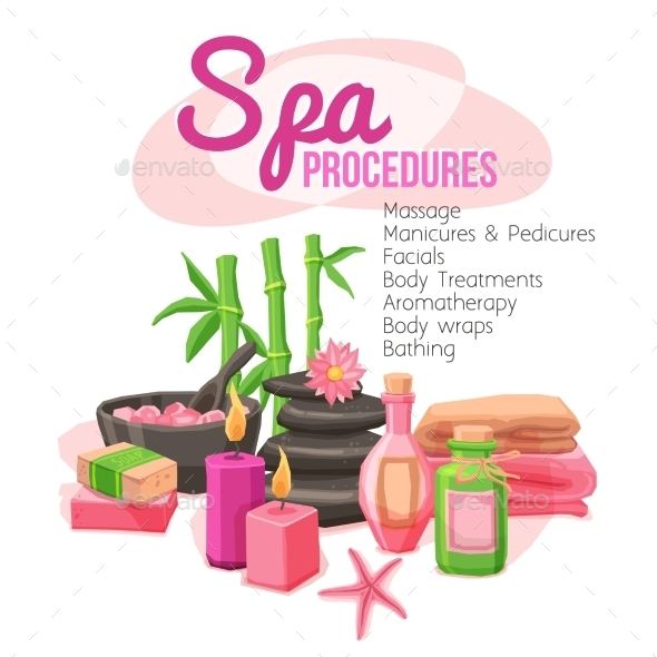 Spa Procedures Illustration - Miscellaneous Vectors
