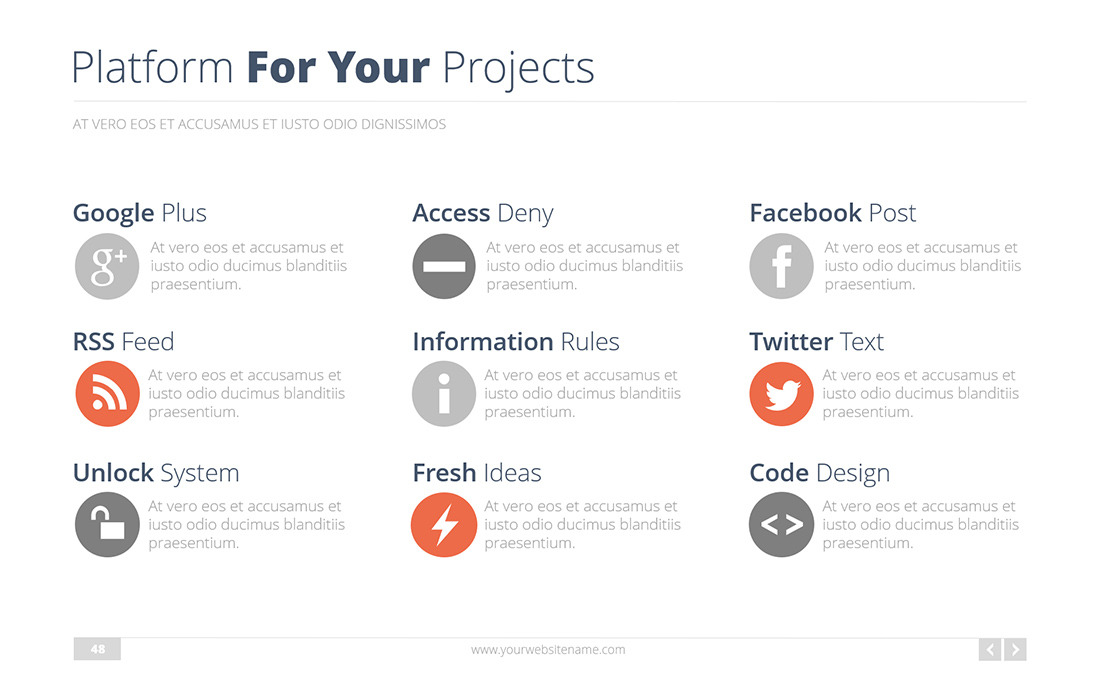 UX Enterprise Powerpoint Presentation Template By Bandidos - Fresh facebook template powerpoint ideas
