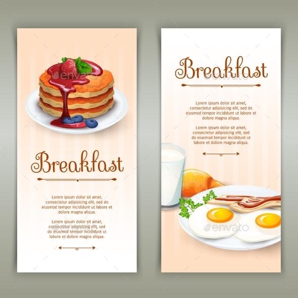 Breakfast 2 Vertical Banners Set - Miscellaneous Conceptual