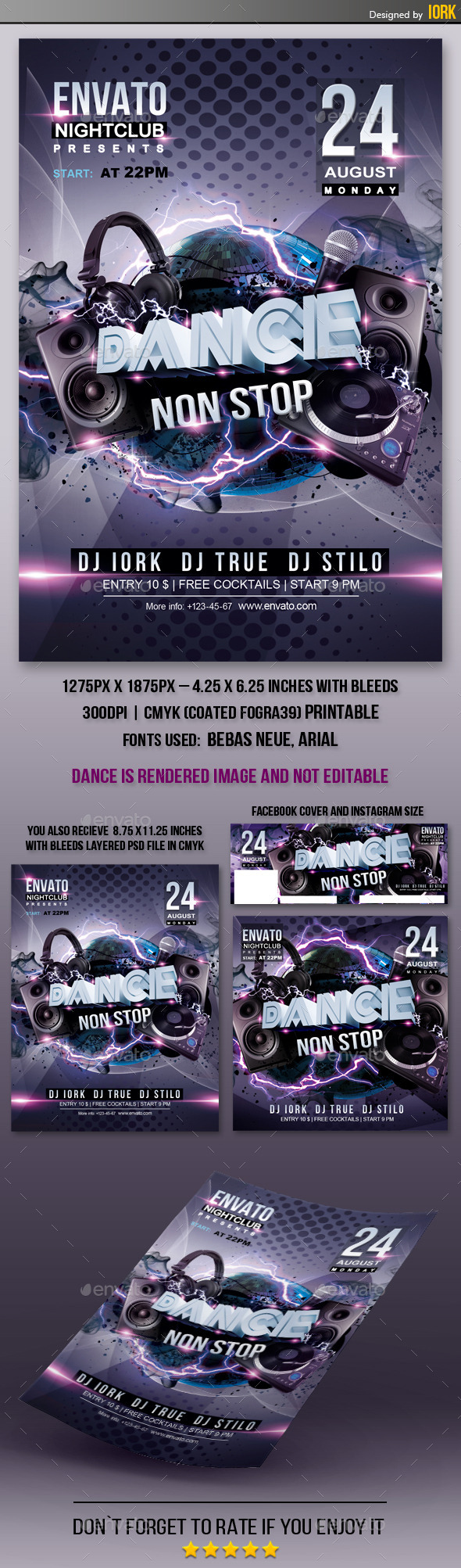 Dance Non Stop Flyer - Clubs & Parties Events