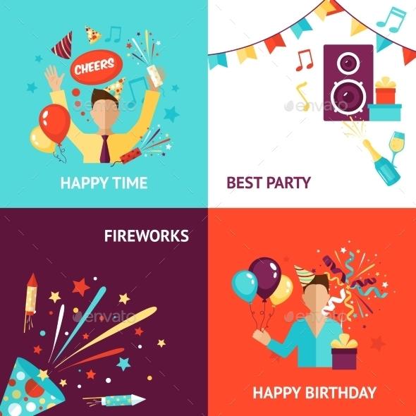Party Design Concept - Miscellaneous Vectors