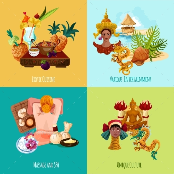 Thailand Touristic Set - Travel Conceptual