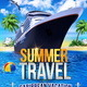 Summer Cruise Travel Flyer - GraphicRiver Item for Sale