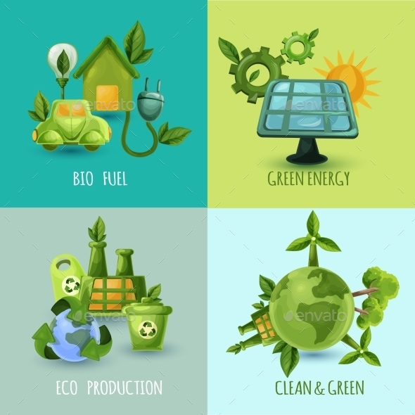 Ecology Design Concept Set - Industries Business