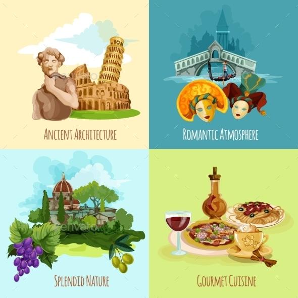 Italy Touristic Set - Travel Conceptual