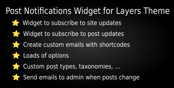 Post Notification Widgets for Layers Theme - CodeCanyon Item for Sale
