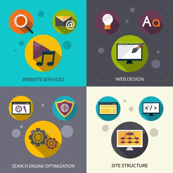 Web Design Set - Technology Conceptual