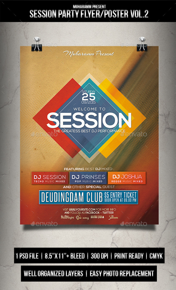 Session Party Flyer / Poster Vol.2 - Clubs & Parties Events