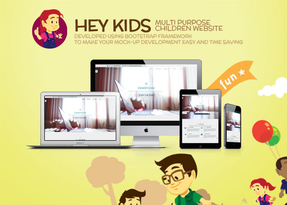 Hey Kids – Responsive Multipurpose Children Web
