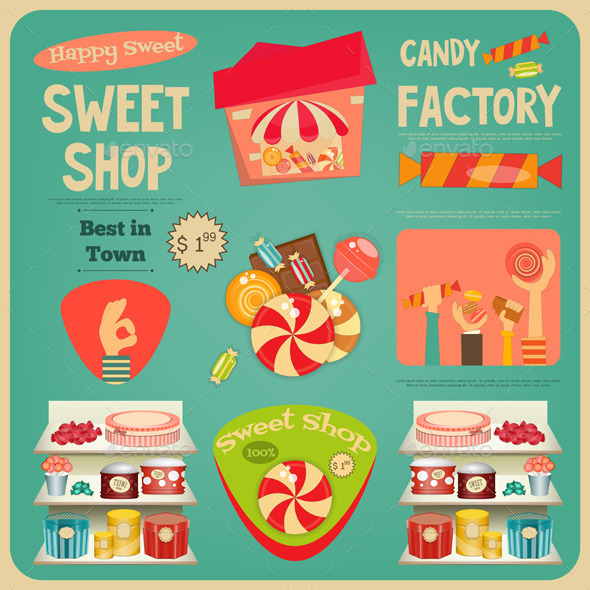 Sweet Shop - Food Objects