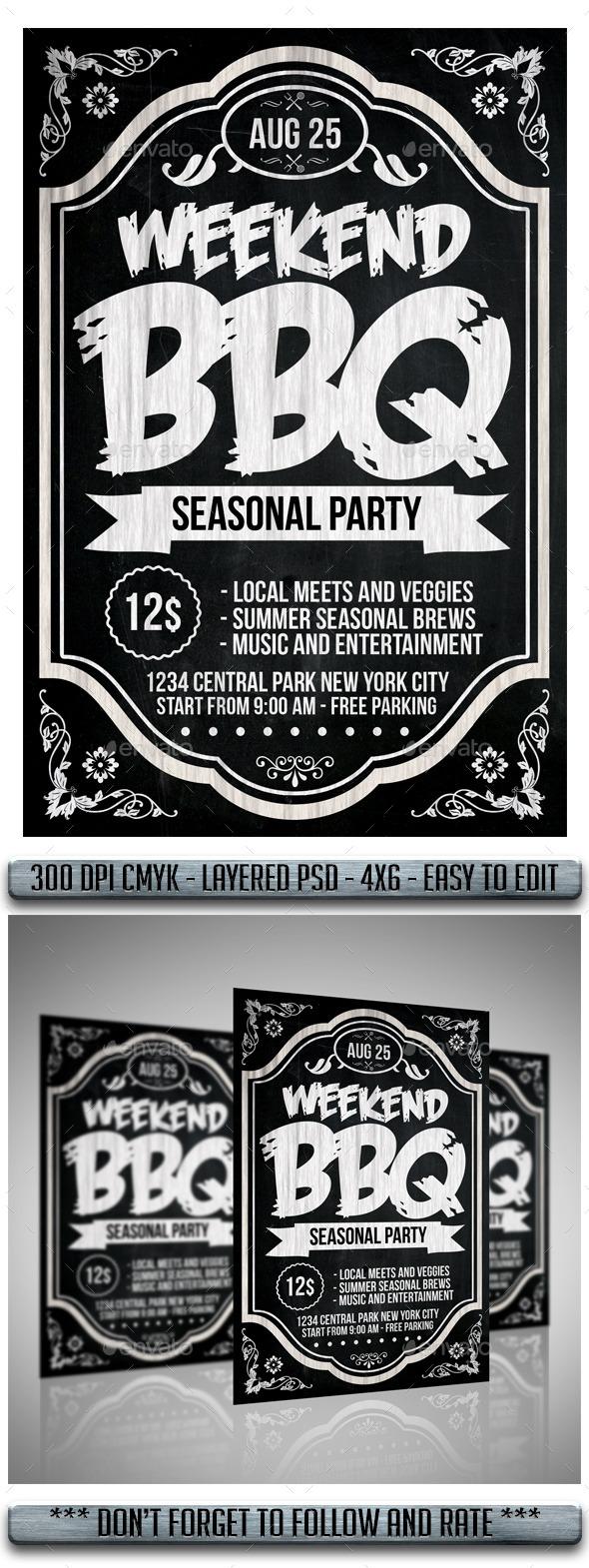 BBQ Flyer - Flyers Print Templates