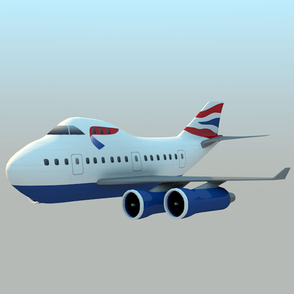 Boeing 747 - 3DOcean Item for Sale