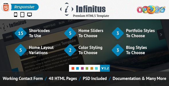 Infinitus : Responsive HTML5 Business Template - Business Corporate