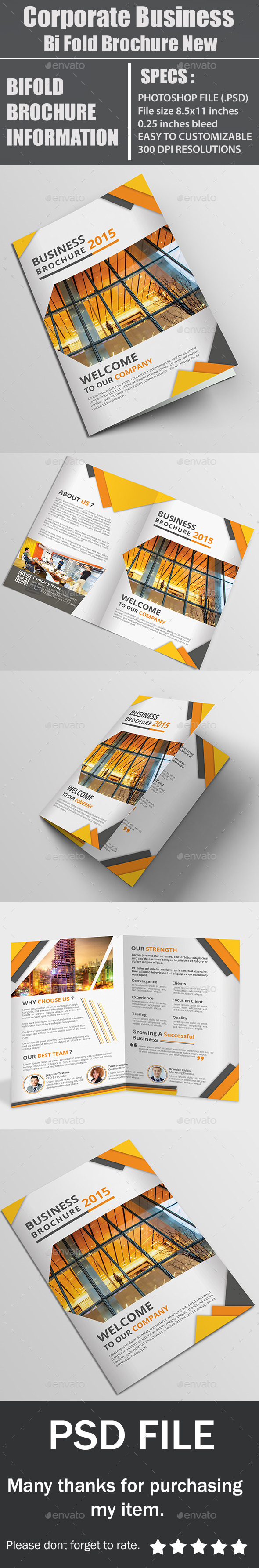 Corporate Business Bi Fold Brochure New - Corporate Brochures