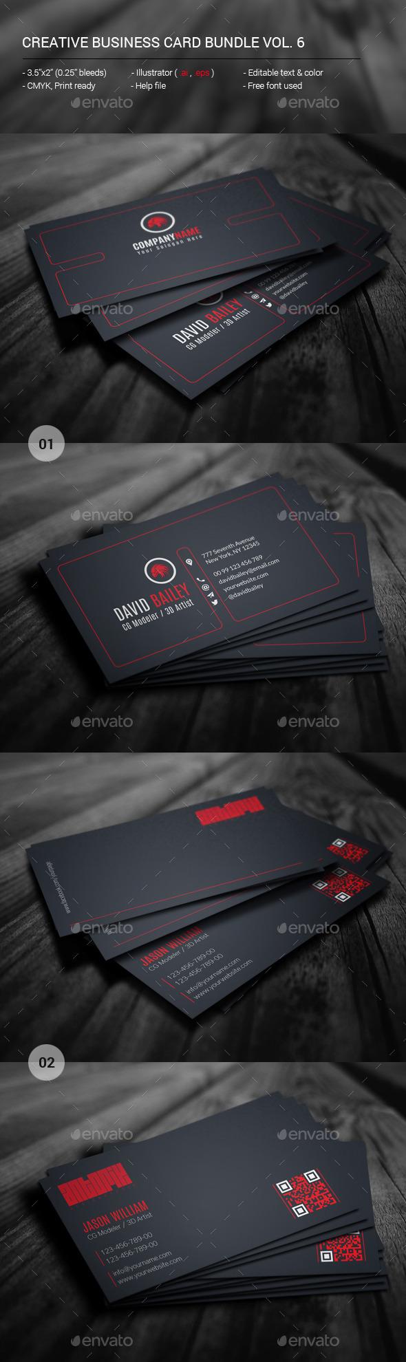 Creative Business Card Bundle Vol. 6 - Creative Business Cards