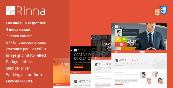Rinna Flat and Responsive Onepage Template