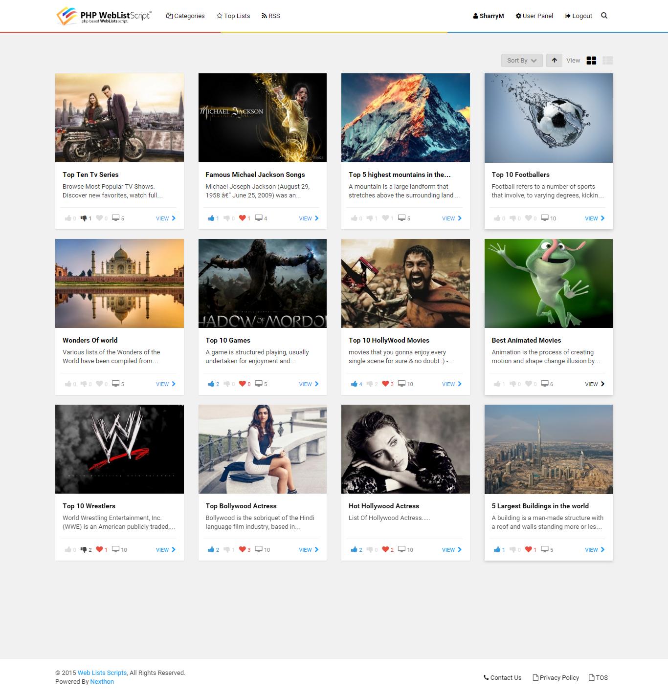 PHP Web List Script by Nexthon | CodeCanyon