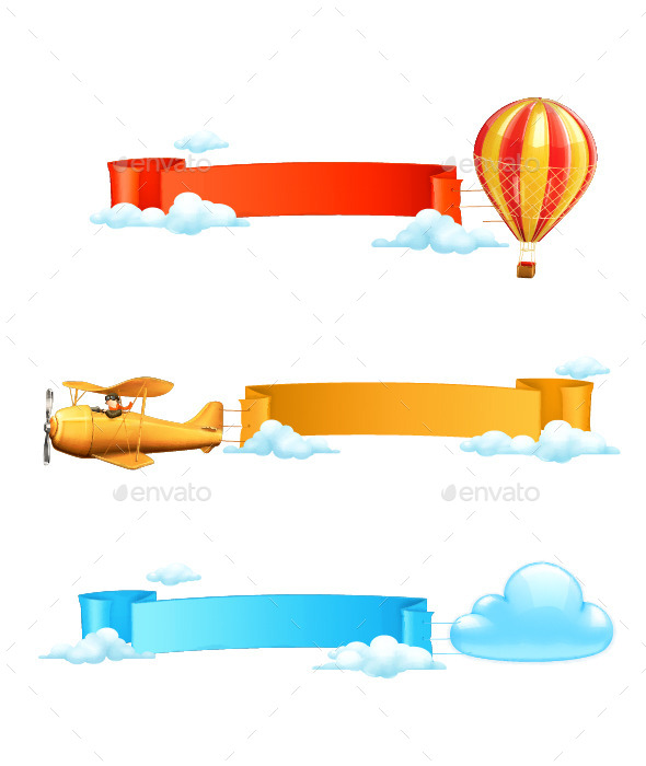Colorful Air Banners - Borders Decorative