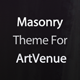 Masonry Theme For ArtVenue - CodeCanyon Item for Sale