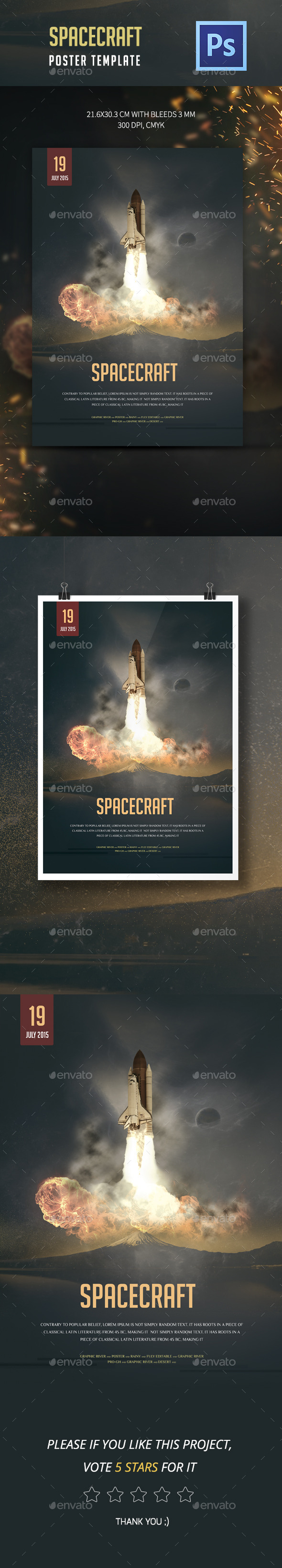 Spacecraft Poster Template - Events Flyers