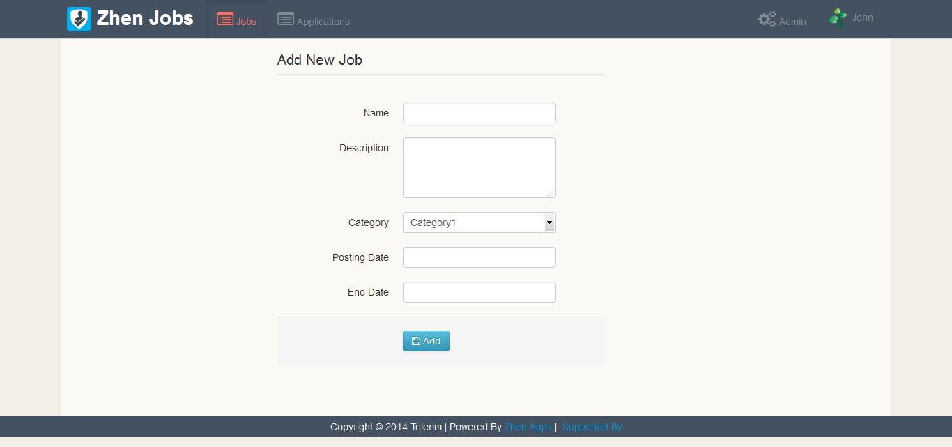Zhen Job Application