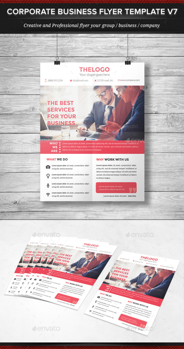 Corporate Business Flyer Template V7 - Corporate Flyers