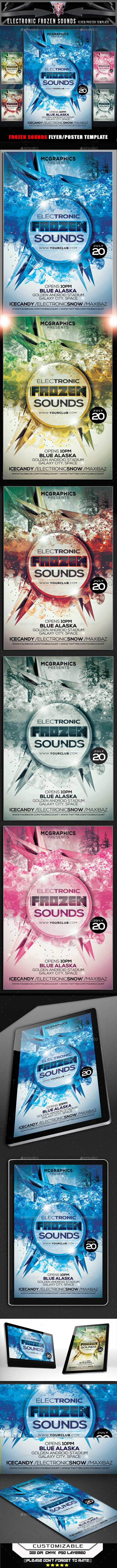 Frozen Sounds Flyer Template - Flyers Print Templates