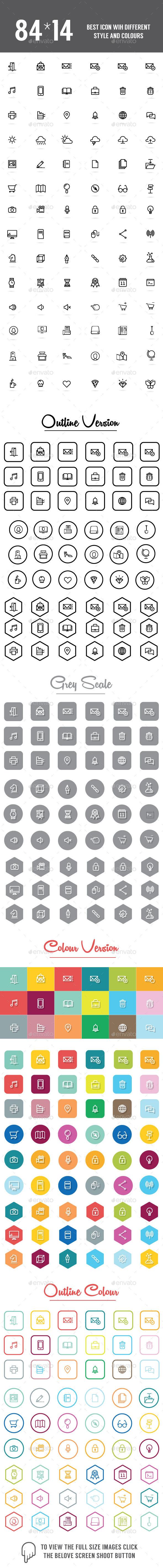 1176 Icons Set - Web Icons
