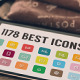 1176 Icons Set - GraphicRiver Item for Sale