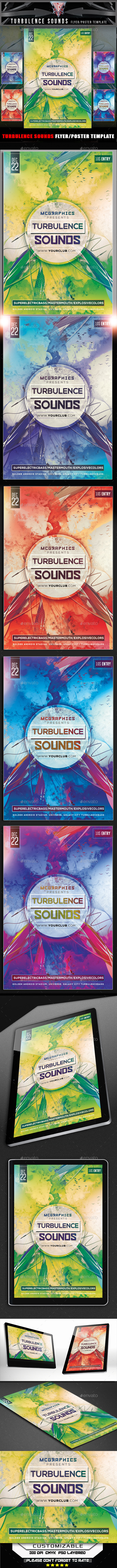 Turbulence Sounds Flyer Template - Flyers Print Templates