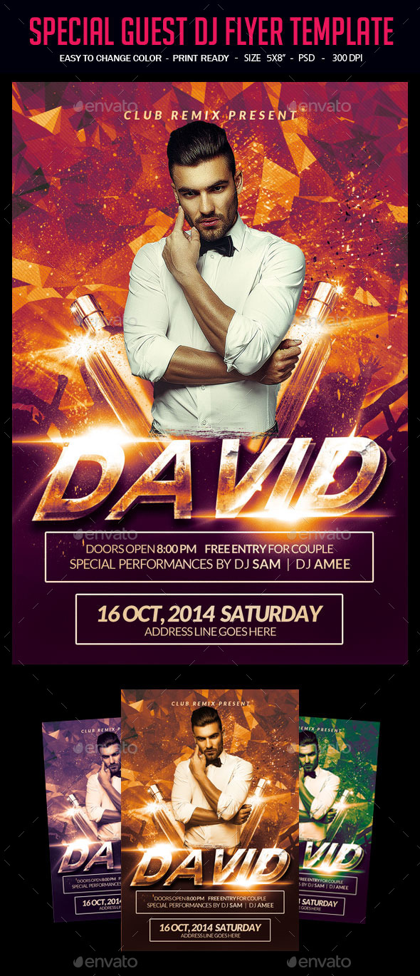 Special Guest Dj Flyer Template - Clubs & Parties Events
