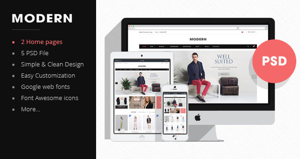 Morden - Premium Fashion PSD Template