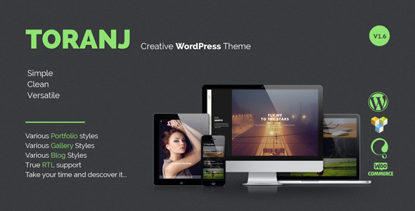 Toranj - Responsive Creative WordPress Theme