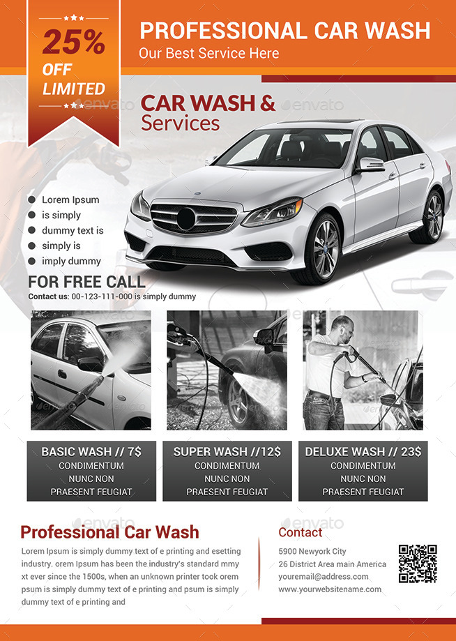 Car Wash Flyer Templates By Afjamaal | Graphicriver