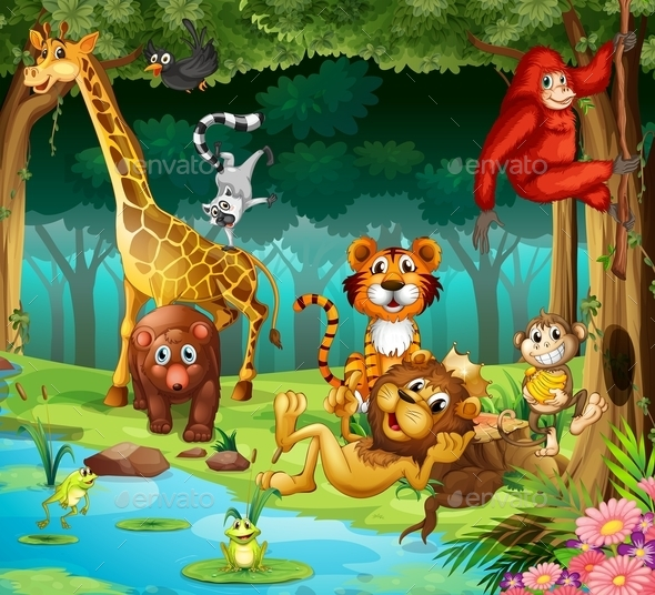 Animals and Forest - Animals Characters